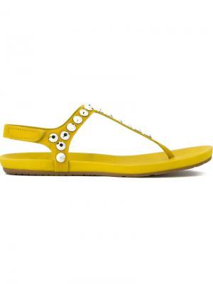 Сандалии Judith Pedro Garcia. Цвет: жёлтый и оранжевый