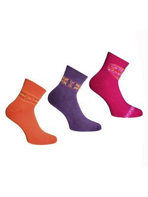 Носки, 3 пары Master Socks. Цвет: малиновый, оранжевый, фиолетовый