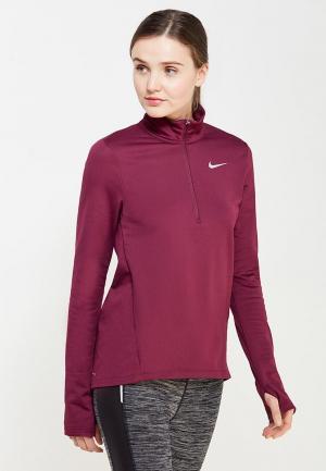 Лонгслив спортивный Nike. Цвет: бордовый