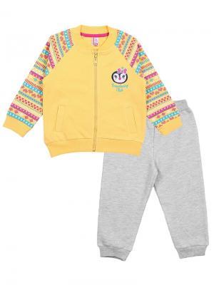 Комплект для девочки (куртка, брюки) Cherubino. Цвет: желтый