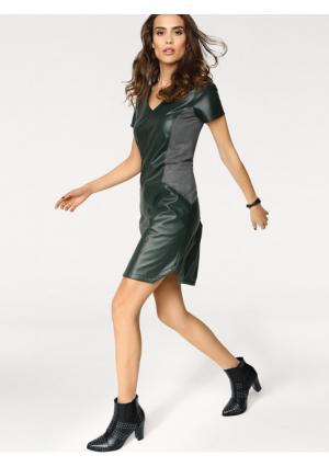Платье B.C. BEST CONNECTIONS by Heine. Цвет: серо-коричневый, темно-зеленый