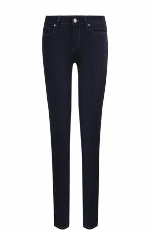 Однотонные джинсы-скинни Paige. Цвет: синий