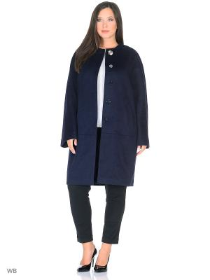 Пальто Liotti Moda. Цвет: темно-синий
