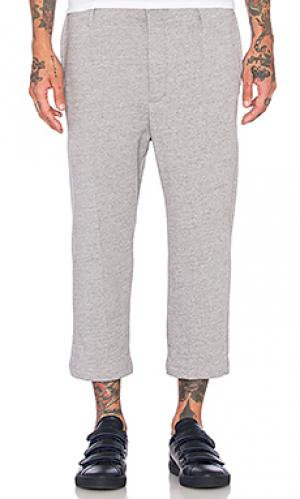 Укороченные спортивные брюки Wil Fry. Цвет: серый