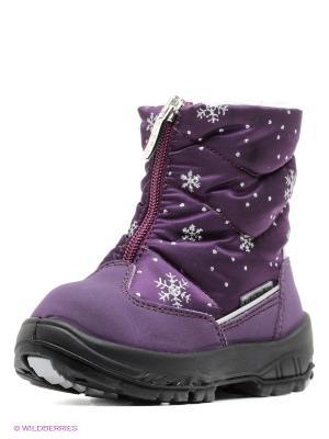 Полусапожки Alaska Originale. Цвет: фиолетовый, темно-фиолетовый
