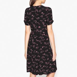 Платье с рисунком MISS FLOWERS SESSUN. Цвет: черный
