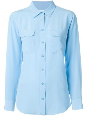 Рубашка с карманом Equipment. Цвет: синий