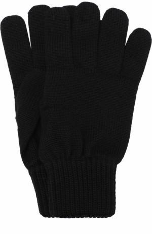 Шерстяные перчатки TSUM Collection. Цвет: черный