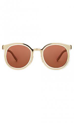 Солнцезащитные очки Karen Walker. Цвет: металлический золотой