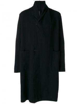 Пальто с лацканами-шалькой Poème Bohémien. Цвет: чёрный