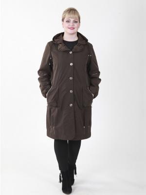 Пальто Одри VIKO. Цвет: темно-коричневый