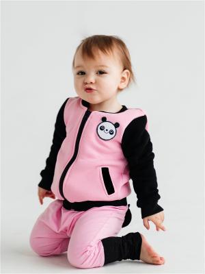 Куртка детская Панда розовый Yuumi. Цвет: розовый