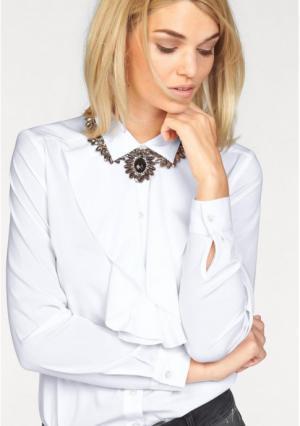 Блузка Laura Scott. Цвет: белый