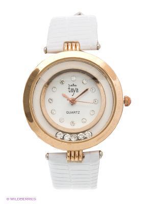 Часы Taya. Цвет: белый, золотистый