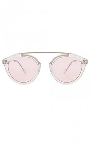 Солнцезащитные очки flower 30 WESTWARD LEANING. Цвет: металлический серебряный