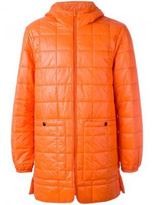 Стеганое пальто Stureby Stutterheim. Цвет: жёлтый и оранжевый