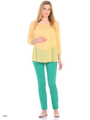 Блузка EUROMAMA. Цвет: желтый