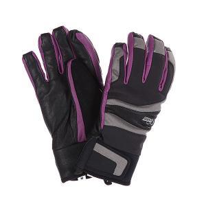 Перчатки сноубордические женские  Gem/Grey Pow. Цвет: серый,черный