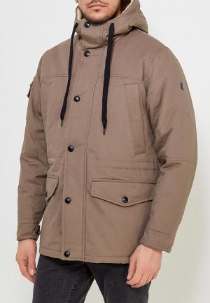 Куртка утепленная Xaska. Цвет: коричневый