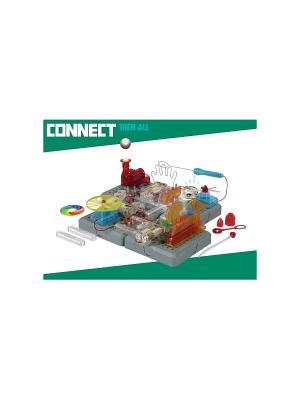 Научный центр (7 опытов) на батарейках, в коробке Amazing Toys. Цвет: серый, красный, оранжевый