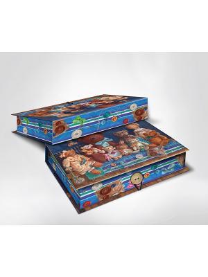 Подарочная шкатулка-коробка МИШКИ S Magic Home. Цвет: коричневый, синий