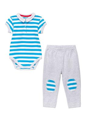 Комплект одежды NinoMio. Цвет: голубой, светло-серый