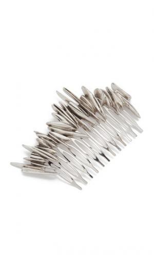 Гребень для волос с осколками PLUIE. Цвет: голубой