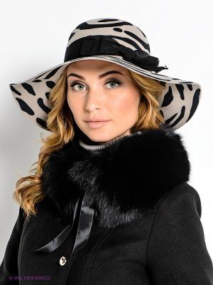 Шляпа Venera. Цвет: бежевый, черный
