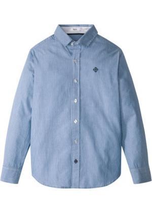 Рубашка (синий/белый в полоску) bonprix. Цвет: синий/белый в полоску