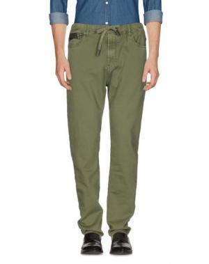 Повседневные брюки YES ZEE by ESSENZA. Цвет: зеленый-милитари
