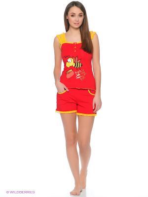 Пижама Cascatto. Цвет: красный