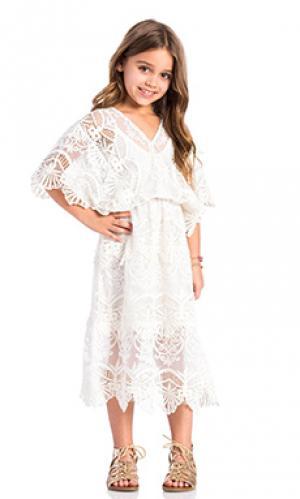 Вечернее платье seashell siren Nightcap. Цвет: белый