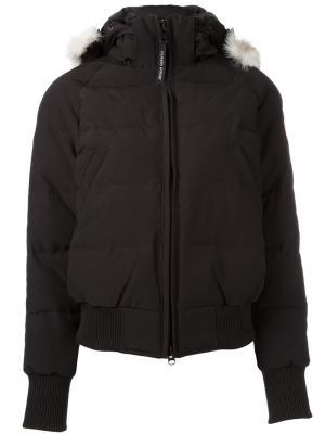 Куртка-бомбер Ladies Savona Canada Goose. Цвет: чёрный