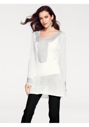 Удлиненный пуловер ASHLEY BROOKE by Heine. Цвет: кремовый