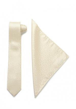 Комплект галстук и платок Carpenter. Цвет: бежевый