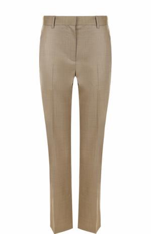 Укороченные брюки прямого кроя со стрелками The Row. Цвет: бежевый