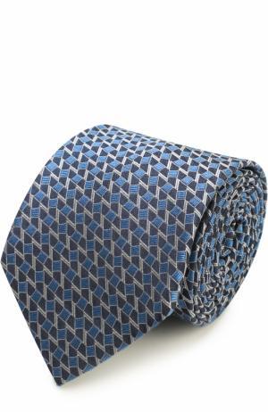 Шелковый галстук с узором Lanvin. Цвет: голубой