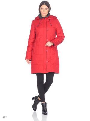Пальто LOUISE Maritta. Цвет: красный