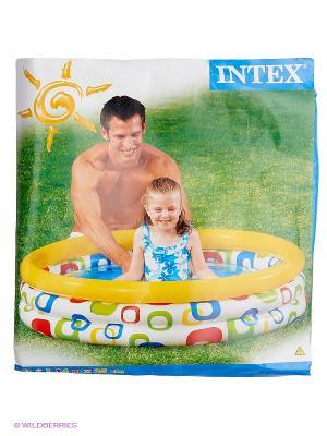 Надувной бассейн  Волны Intex. Цвет: голубой