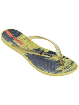 Шлепанцы Ipanema. Цвет: желтый