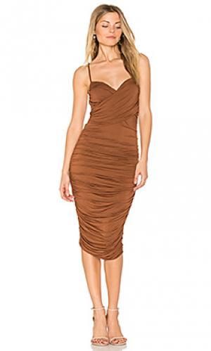 Платье cumbia Bailey 44. Цвет: коричневый