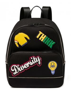 Рюкзак United Colors of Benetton. Цвет: черный, желтый