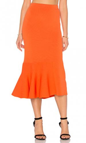 Юбка the diversion knit TY-LR. Цвет: оранжевый