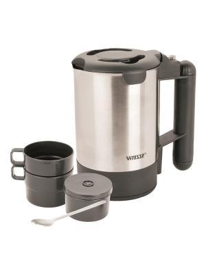 Электрический чайник дорожный Vitesse. Цвет: темно-серый