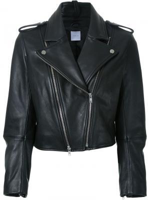 Байкерская куртка Dion Lee. Цвет: чёрный