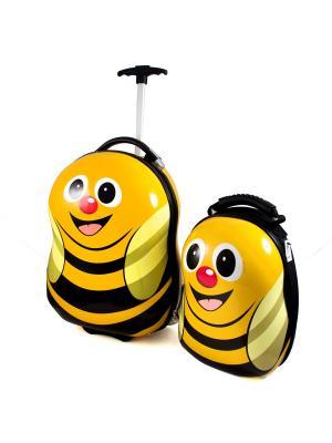 Набор дорожный Пчелка Русские подарки. Цвет: черный, желтый