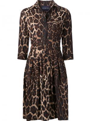 Платье Claire Samantha Sung. Цвет: коричневый