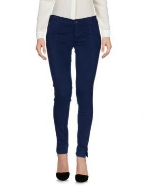 Повседневные брюки OAKS. Цвет: темно-синий