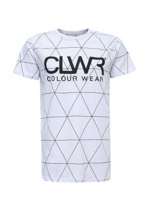 Футболка CLWR. Цвет: белый