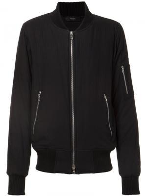 Zip sleeve bomber jacket Amiri. Цвет: чёрный
